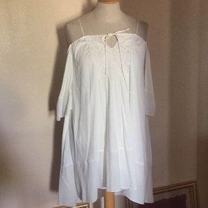 Zara Basics cold shoulder hi lo Blouse Dress Top